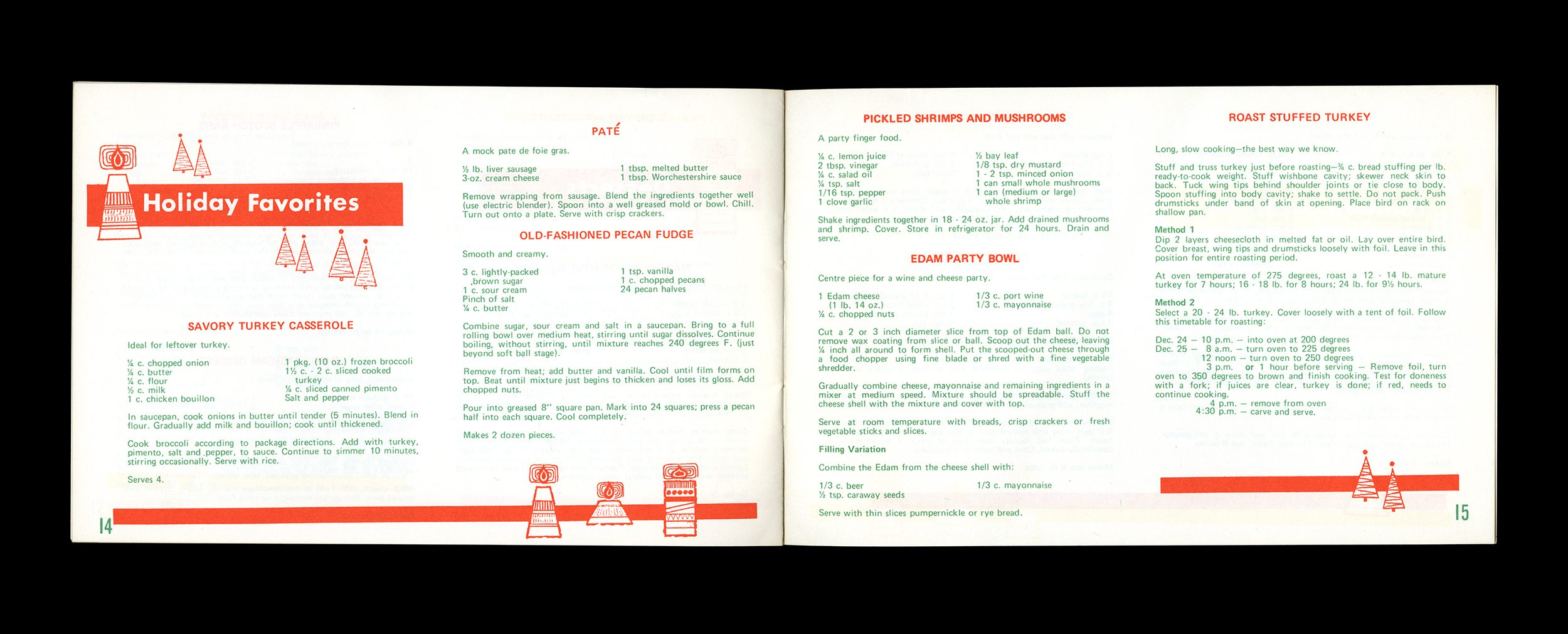 A scan of Penny Powers cookbook with holiday favourites