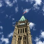 Peace Tower against blue sky
