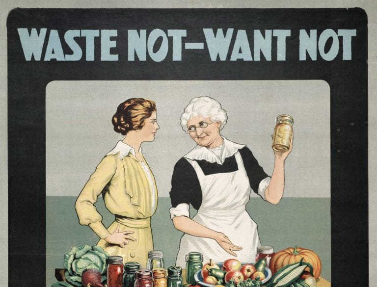 war proaganda poster on food waste